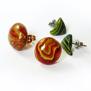 Faux Gemstone Post Earrings