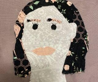 Fabric Scrap Portrait
