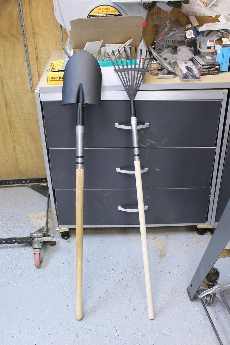 Painting the Rake and Shovel Aka Paint Brushes