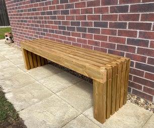 现代花园长凳(超级简易)