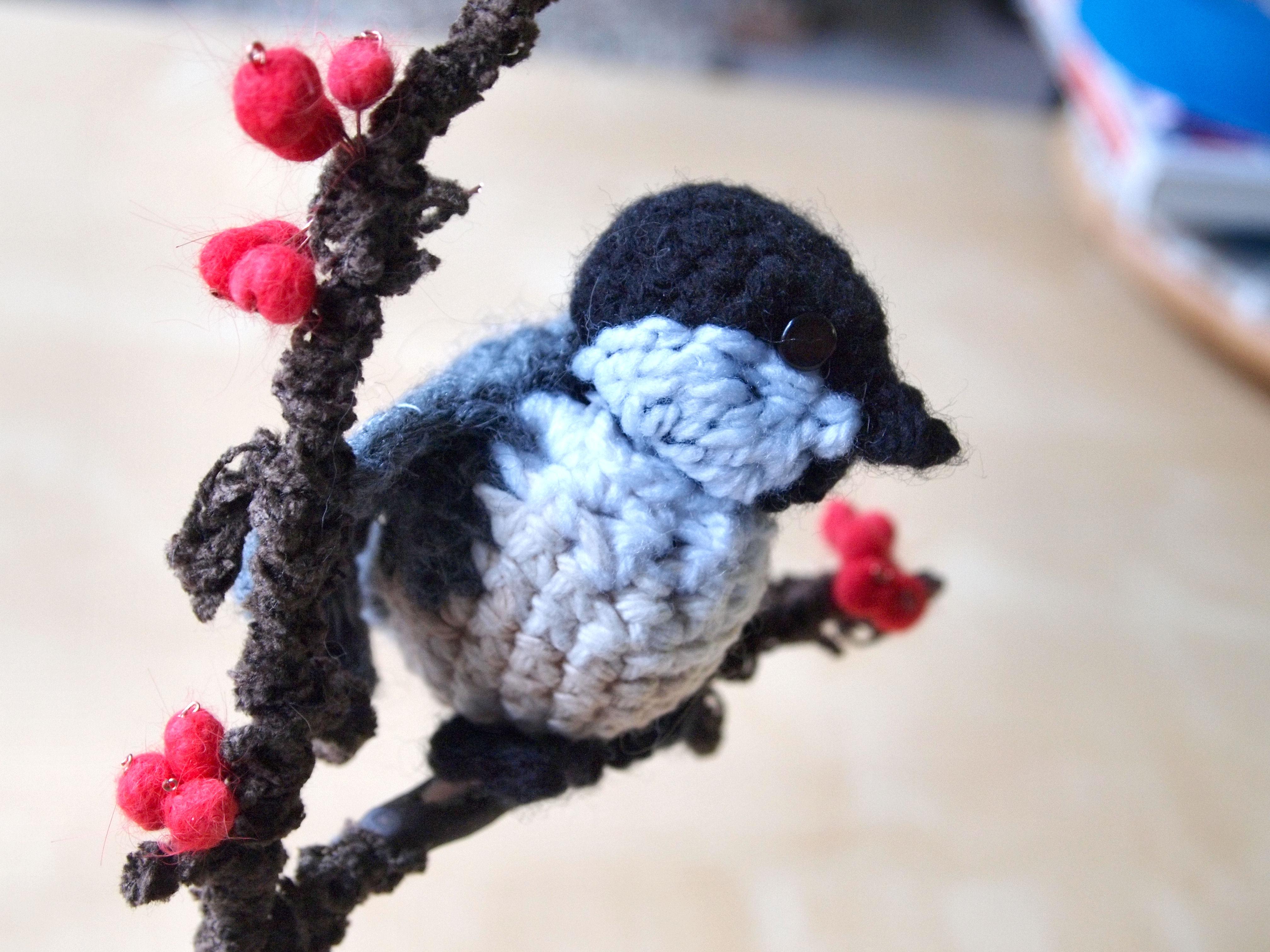 Singing Crochet Chickadee