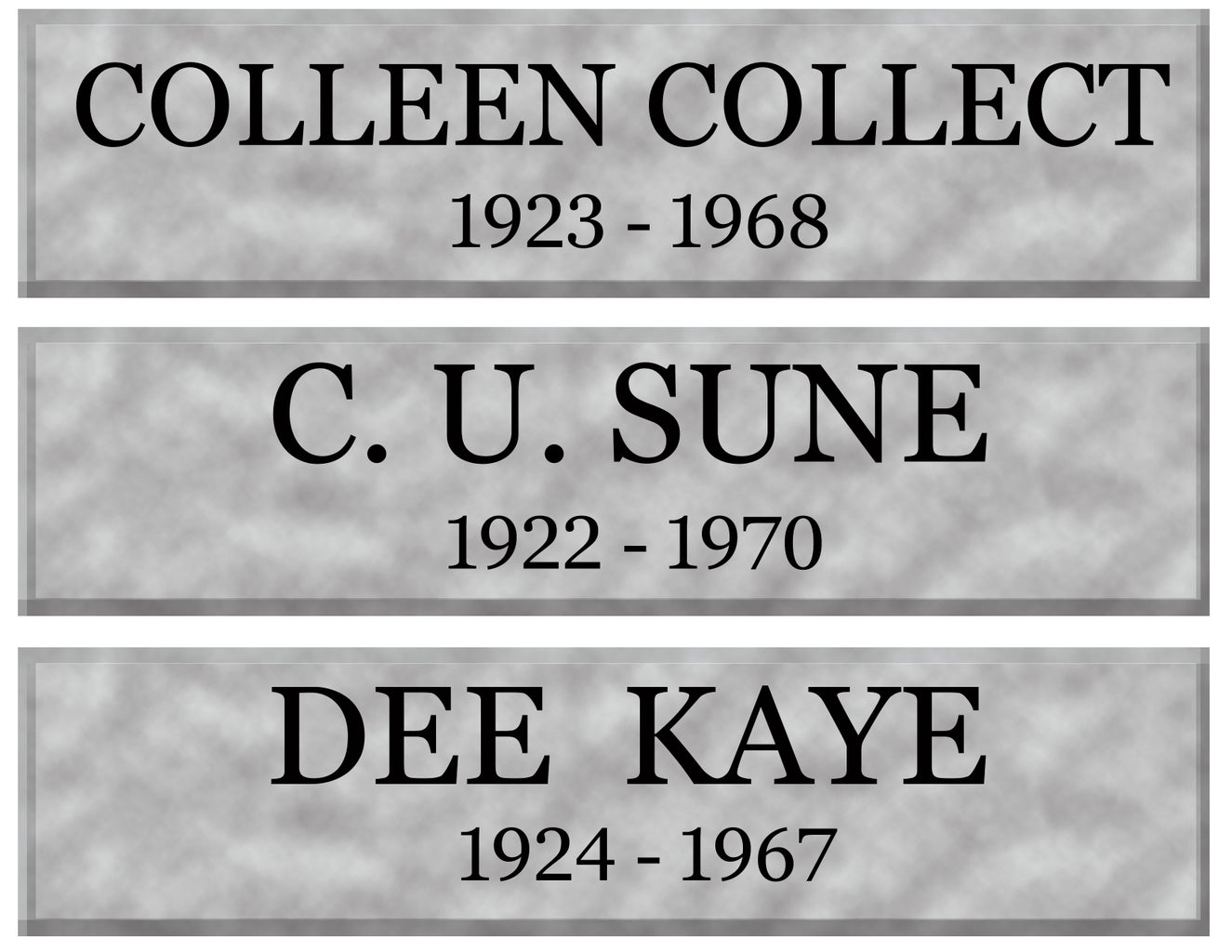 """Print Your """"marble"""" Plaques"""