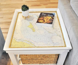 End Table Coastal Makeover