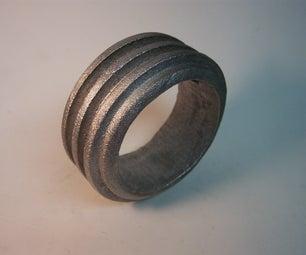 Sand Cast Industrial Modern Bangle