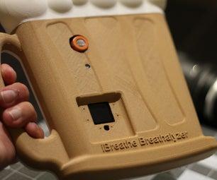 Talking IBreathe Breathalyzer With Bluetooth IOS App and IoT