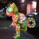 LED Color Sensing Chameleon Costume