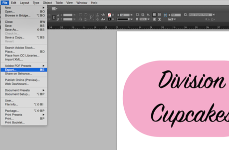 """Save Your Logo by Clicking """"File"""" and """"Export"""". Name Your File and Under """"Save Item Type"""" Select Adobe PDF."""
