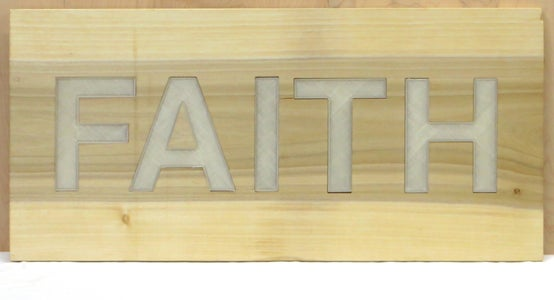 Sign 2: Internal Light Source With Flush Lit Objects (FAITH)