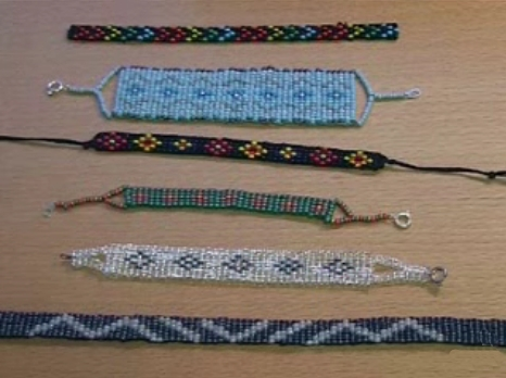 How To Make A Beaded Bracelet On A Cardboard Box Loom