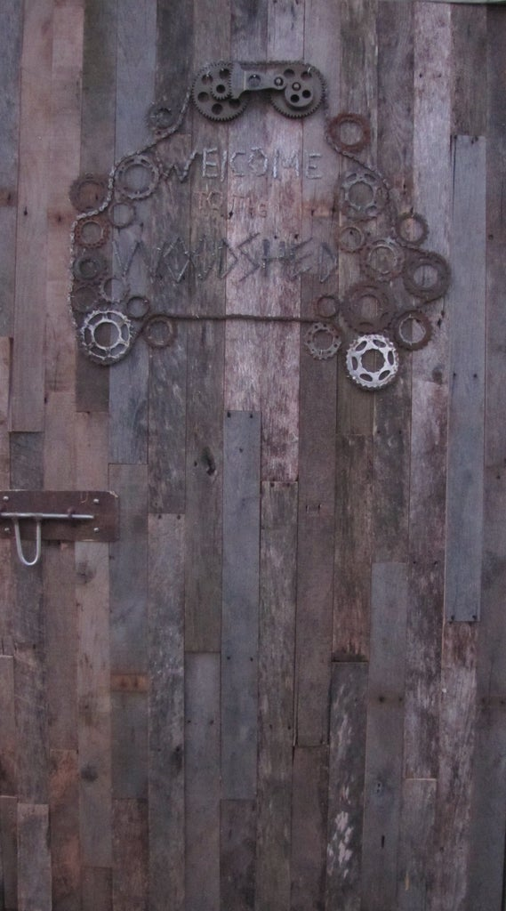 Paneling From Pallets With Steampunk Accent.