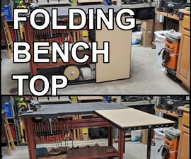 Folding Bench Top Extension Made From Recycled Bed Frame