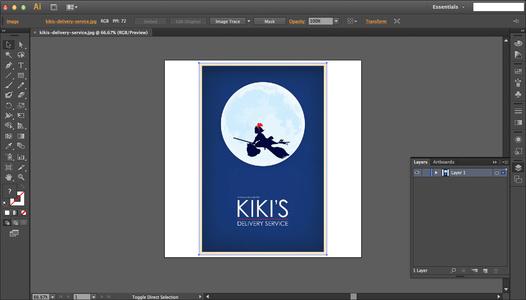 Kiki's Delivery Service: Part 1 (Illustrator)