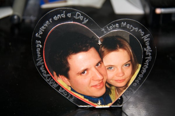Beating LED Heart Picture Frame