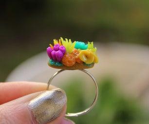 迷你珊瑚礁环 - 聚合物粘土