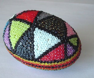 Wooden Egg With Beads