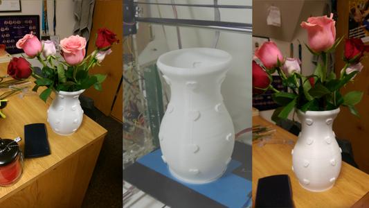 3D Printed Valentine's Day Heart Vase