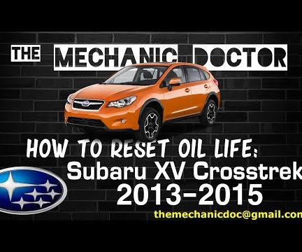 How to Reset Oil Life: Subaru XV Crosstrek 2013-2015