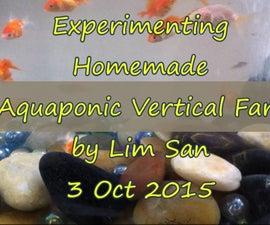 DIY Aquaponic Vertical Farming System With Air-Lift Pump