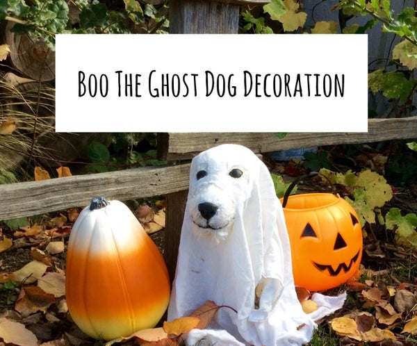 Boo the Ghost Dog Halloween Decoration