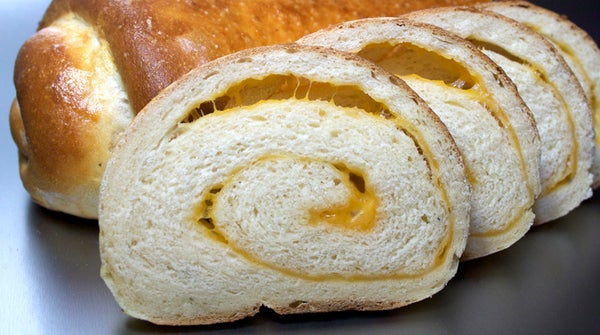 Onion Cheese Bread With Salt Crust