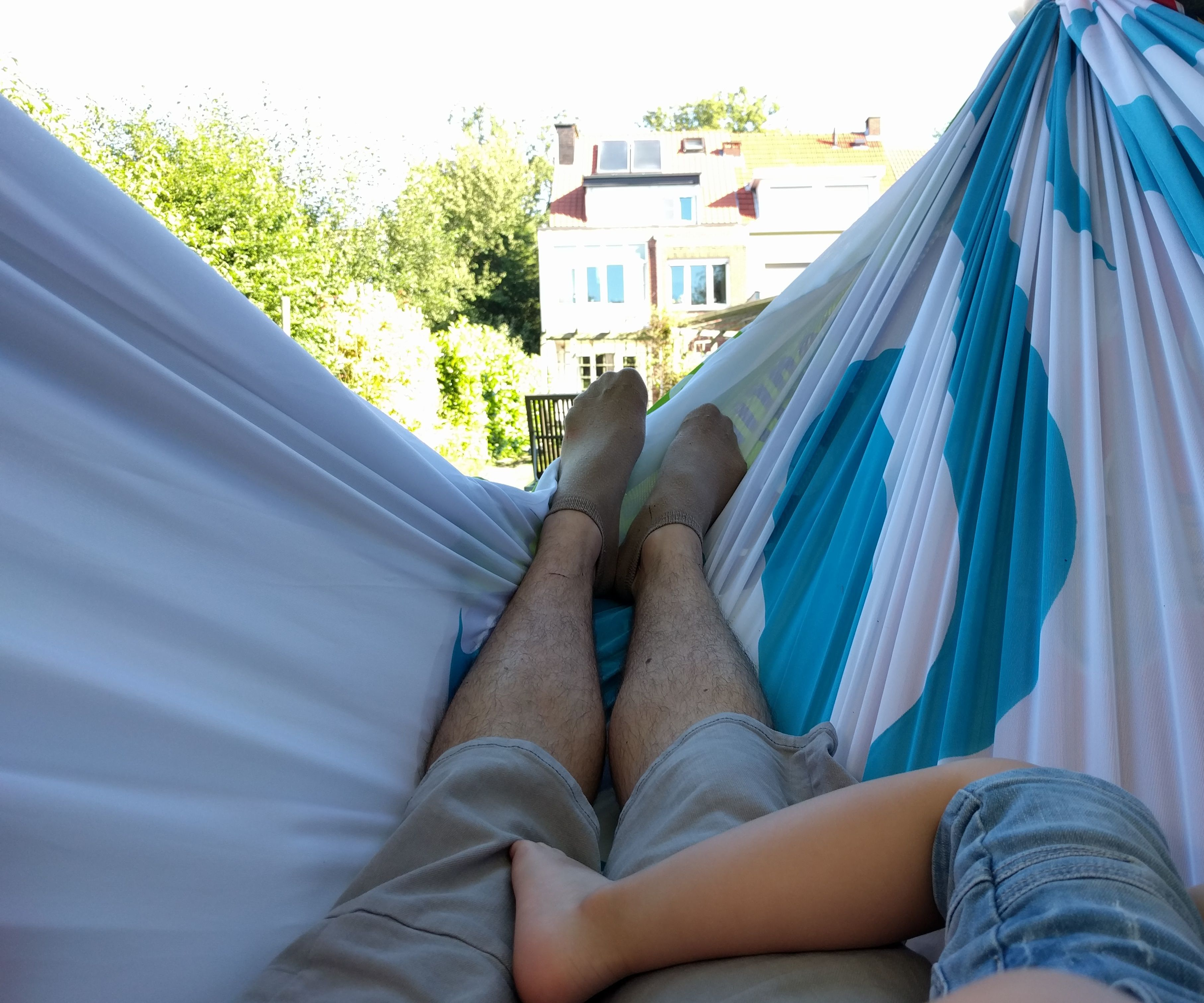 Family Hammock made from recycled flags