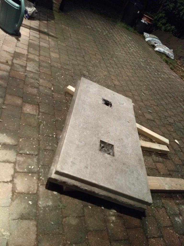 Reusable Concrete Foundation