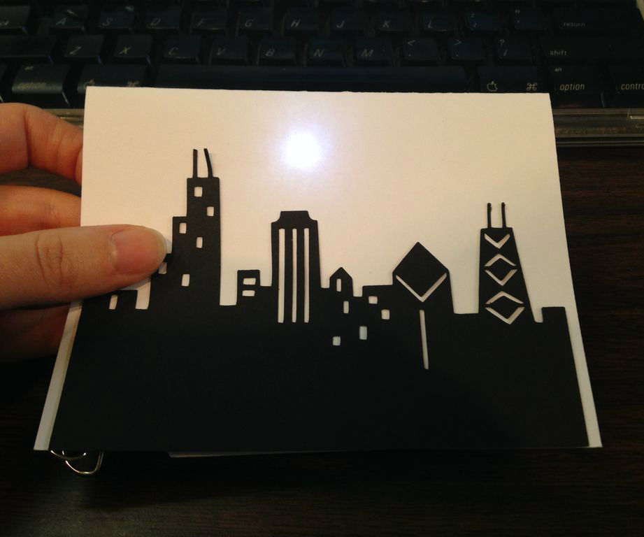 Light Up Skyline Greeting Card