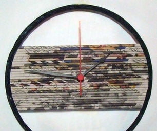 Recycled Newspaper Clock
