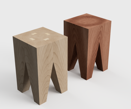 Backenzahn - a Small Side Table, Stool, or Plant Stand