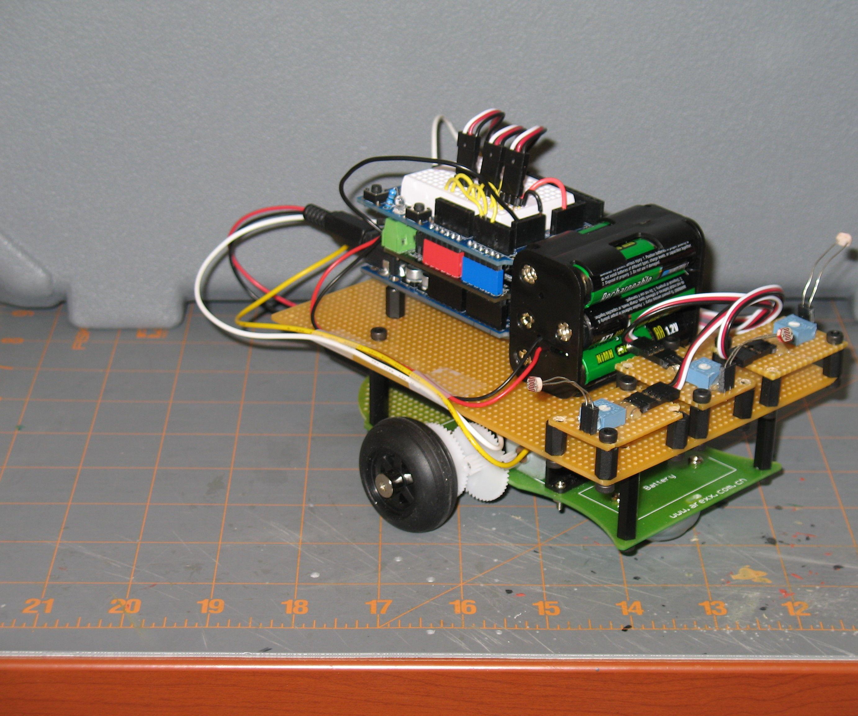 Arduino Light Following Robot