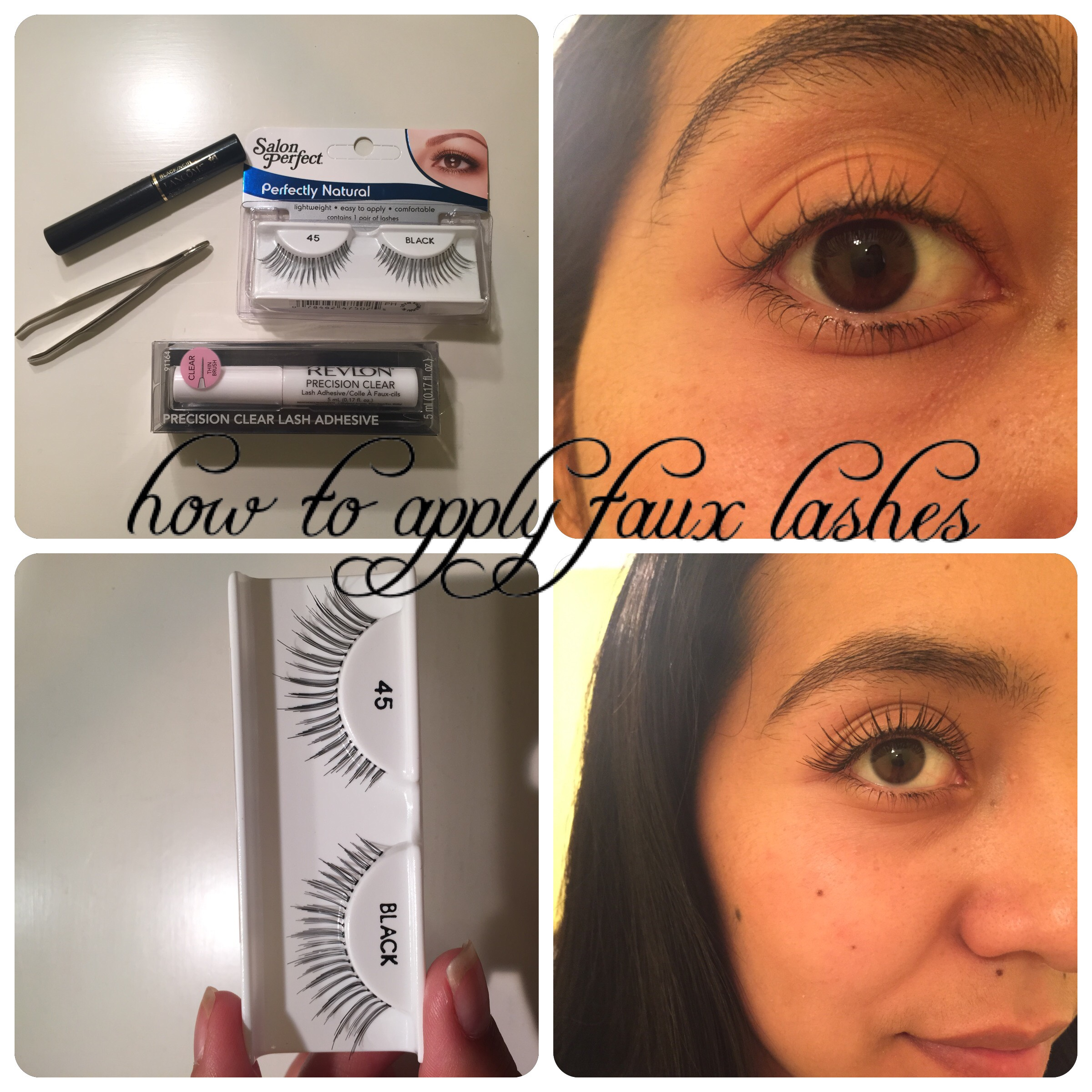 How To Apply Faux Lashes