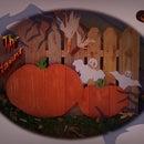 Arte de jardín de Halloween (paleta de madera)