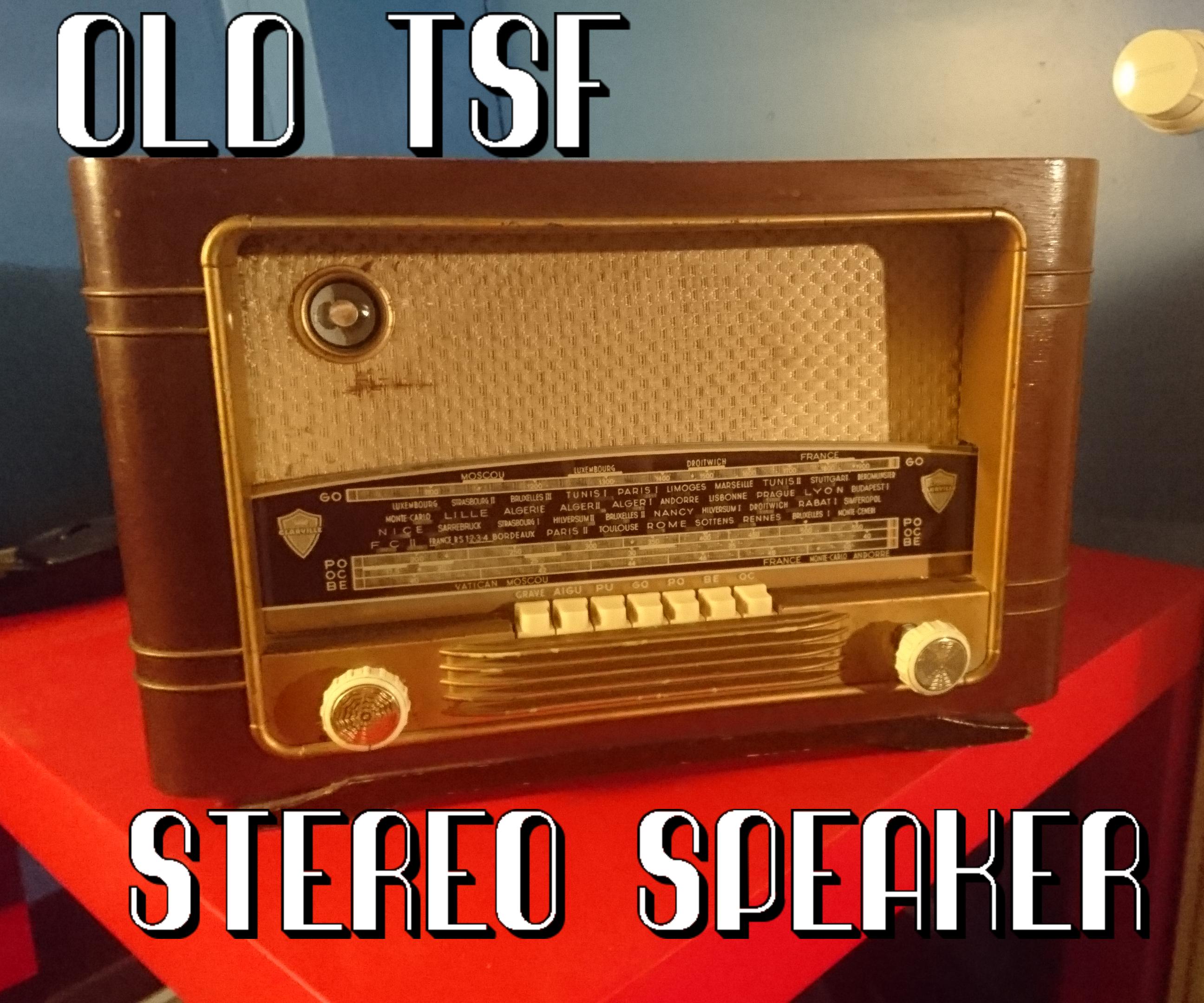 Old TSF Stereo Speaker