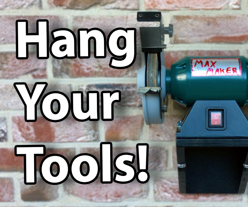 Make a Wall Mount for Your Bench Grinder!