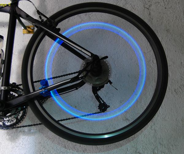Bike Wheel Induction Safety Light