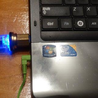 Glowing Steampunk Flash Drive