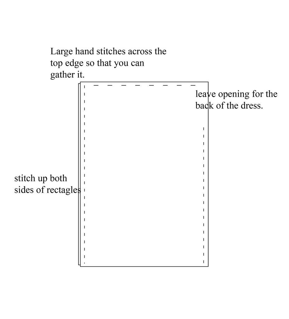 Step 1:Pattern the Overdress