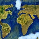 How to Make World Map Using Natural Things