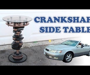 Car Crankshaft Side Table