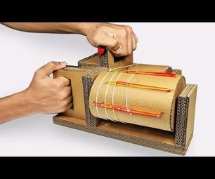 How to Make MINI Rubber Band Machine Gun From Cardboard DIY at Home