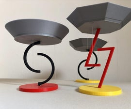Floating Bowls - Tensegrity - 3D Printed
