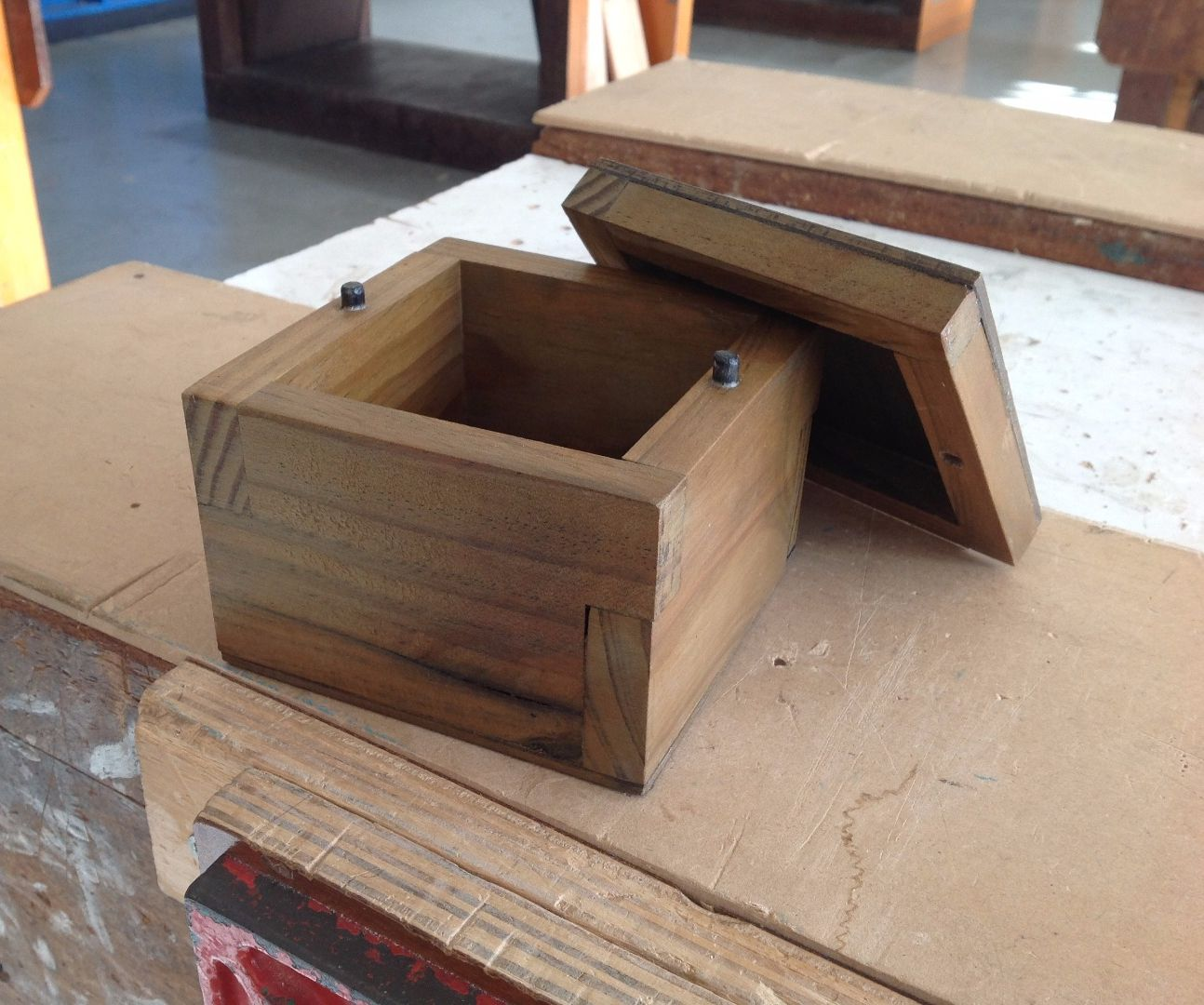 Small wooden box