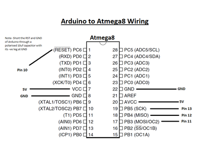 Hooking Up Arduino With ATmega8