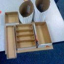 Make a Free, Customized Desk-top Organizer during your lunch break!!