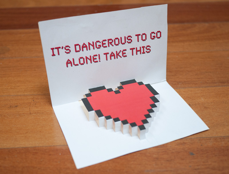 Zelda Pop-Up Valentine Heart Card