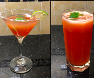 Spicy Watermelon Lemonade and Cocktail