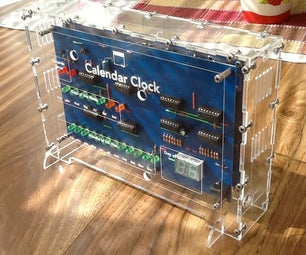Digital Calendar Clock Made From CMOS Chips