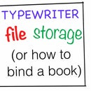 Typewriter File Storage (How to Bind a Book)
