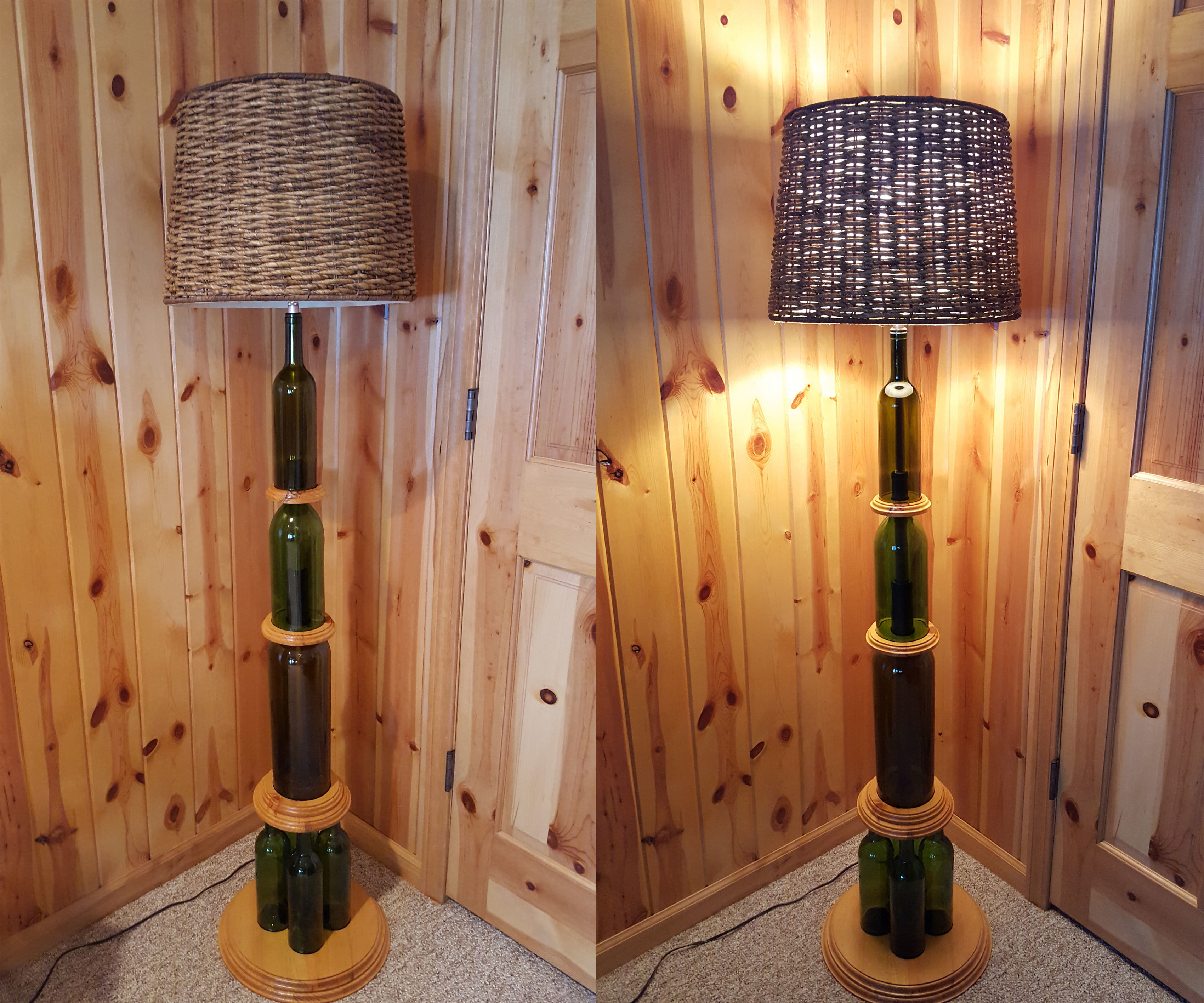 Wine Bottle Floor Lamp