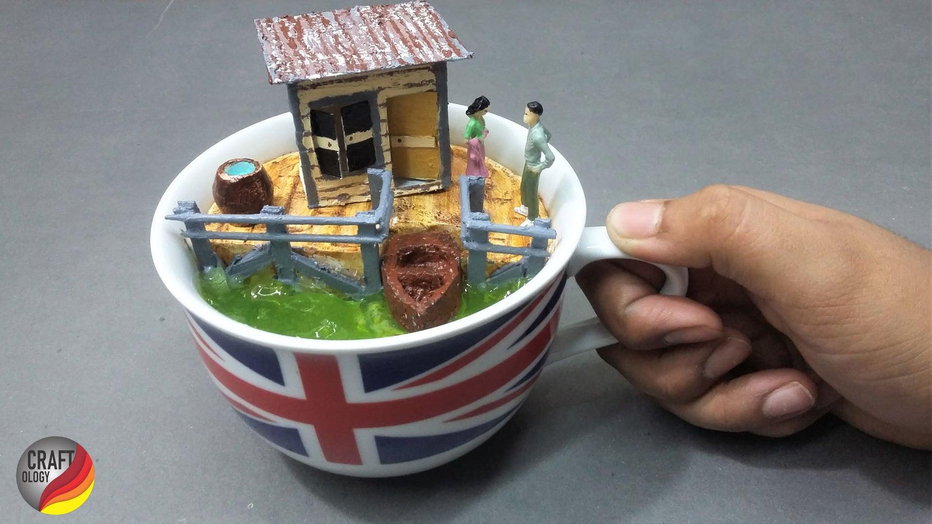 How to Make DIY Miniature Art|Landscape Realistic Cup Diorama